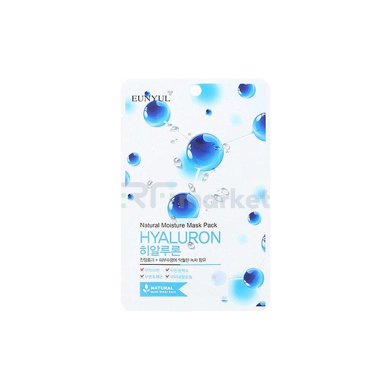 Eunyul Маска тканевая с гиалуроновой кислотой - Natural mosture mask pack hyaluron, 22мл