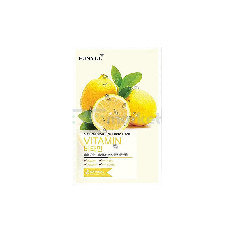 Eunyul Маска тканевая с витаминами - Natural moisture mask pack vitamin, 22мл