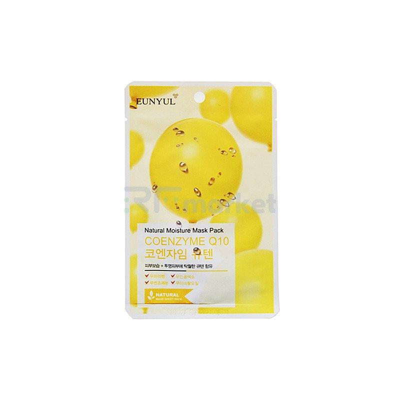 Eunyul Маска тканевая с коэнзимом Q10 - Natural moisture mask pack coenzym, 22мл
