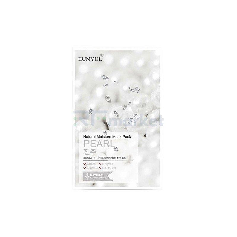 Eunyul Маска тканевая с экстрактом жемчуга - Natural moisture mask pack pearl, 22мл