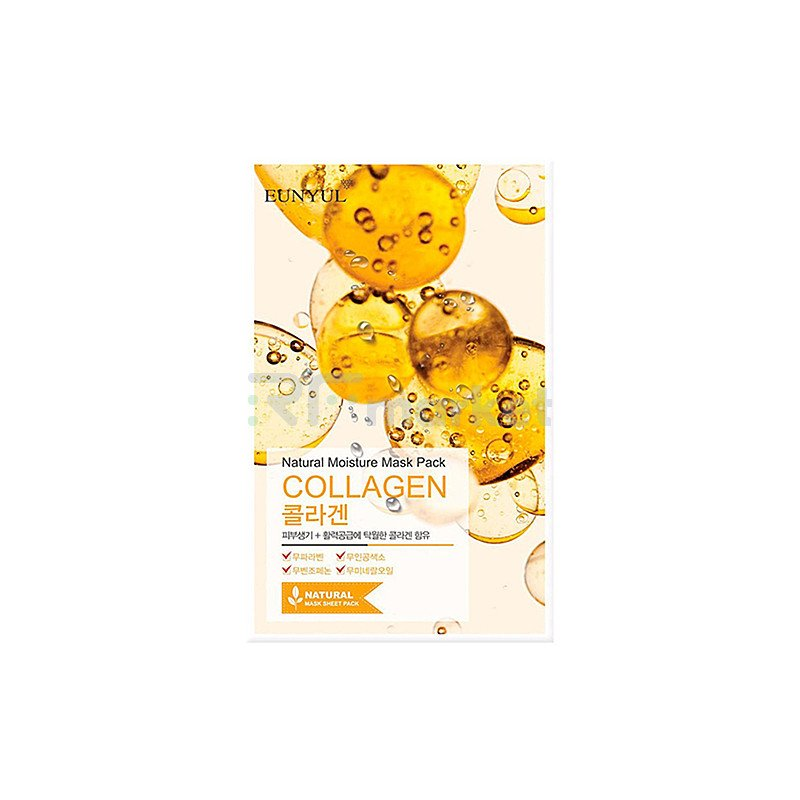 Eunyul Маска тканевая с коллагеном - Natural moisture mask pack collagen, 22мл