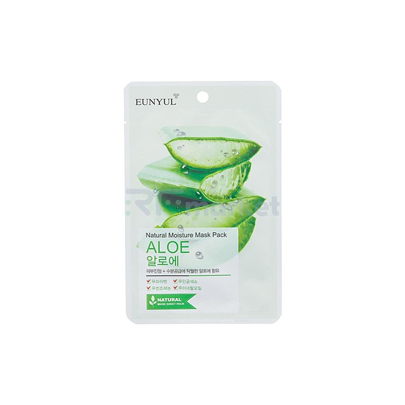 Eunyul Маска тканевая с экстрактом алоэ - Natural moisture mask pack , 22мл