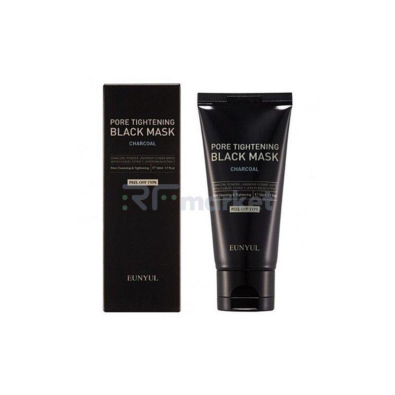 Eunyul Маска-пленка очищающая против черных точек - Pore tightening black mask, 50мл