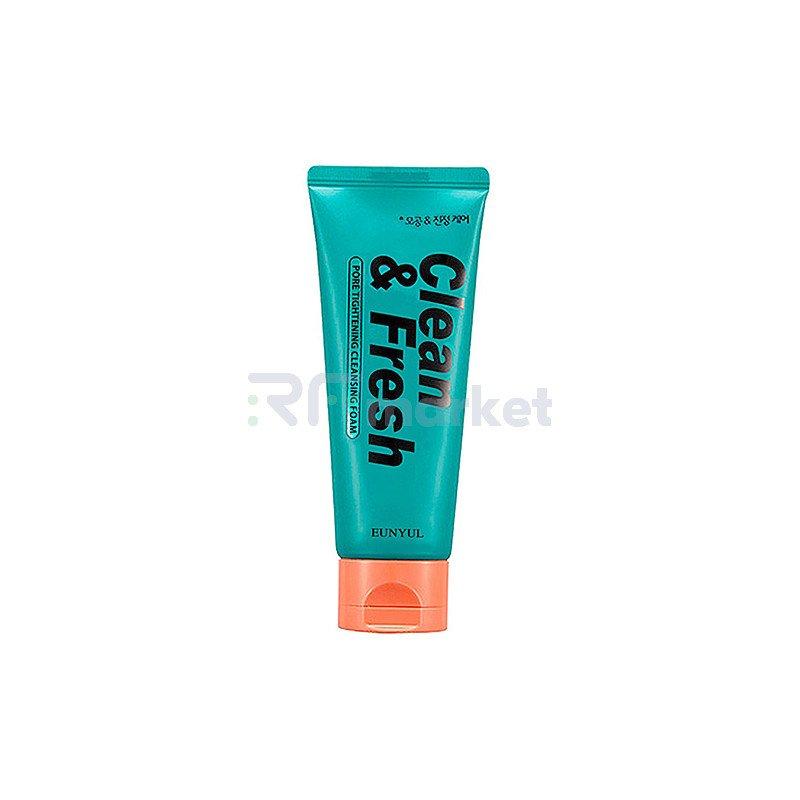 Eunyul Пенка очищающая для сужения пор - Clean & fresh pore tightening foam cleanser, 150мл