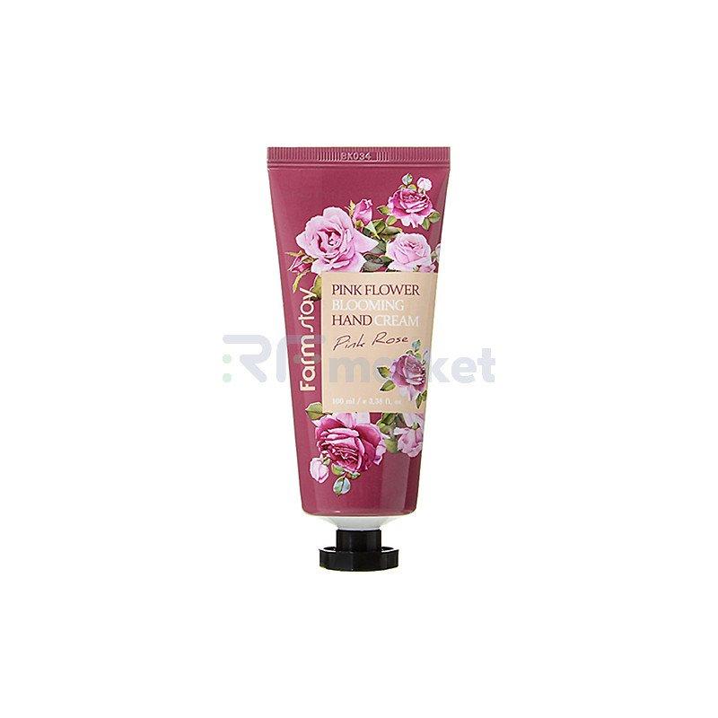 FarmStay Крем для рук с розой - Pink flower blooming hand cream pink rose, 100мл