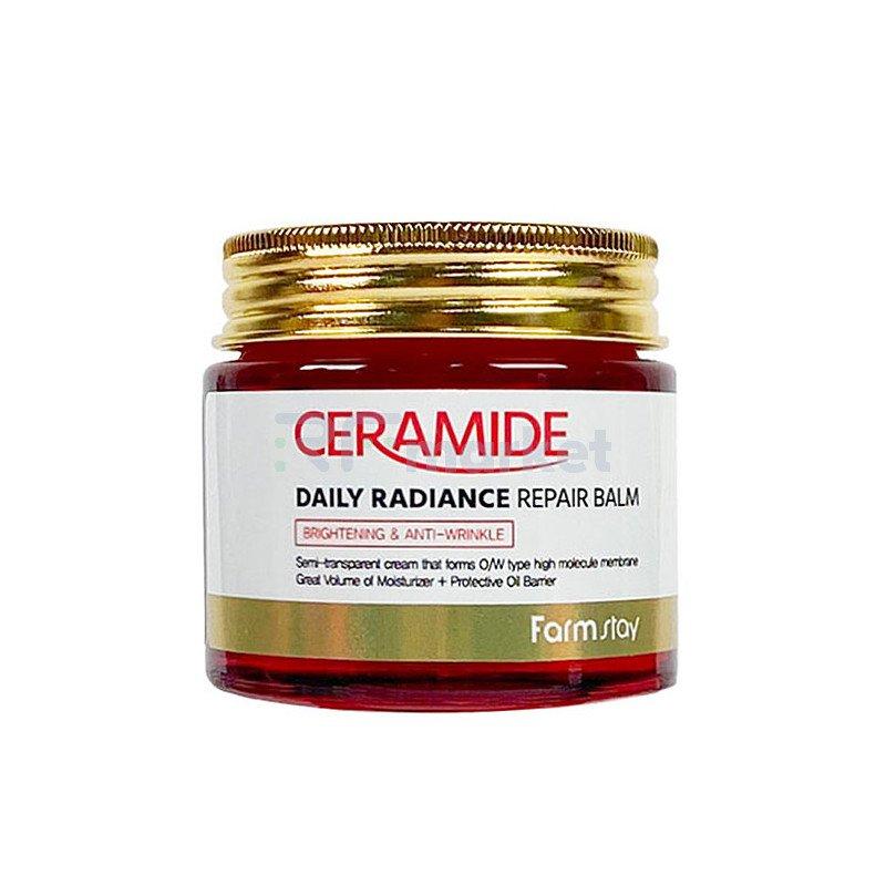 FarmStay Крем-бальзам увлажняющий с керамидами - Ceramide daily radiance repair balm, 80г