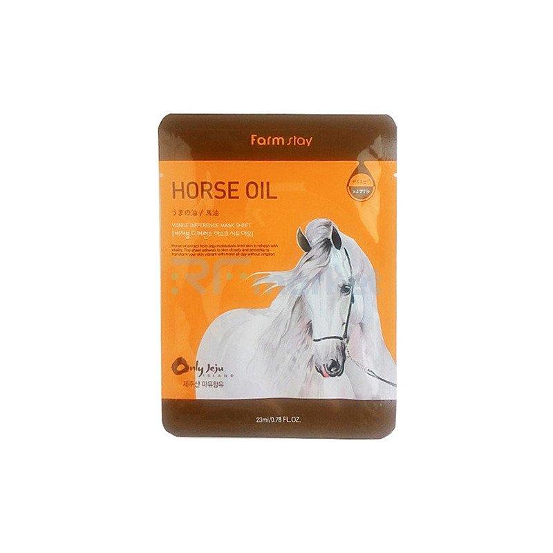 FarmStay Маска тканевая с лошадиным маслом - Visible difference horse oil mask sheet, 23мл