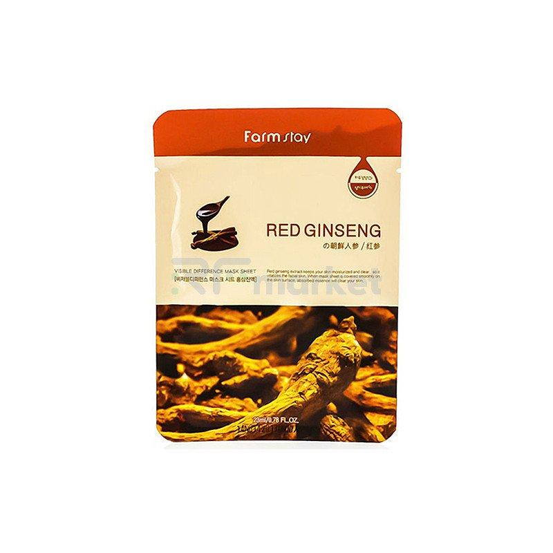 FarmStay Маска тканевая с экстрактом красного женьшеня - Visible difference mask sheet, 23мл