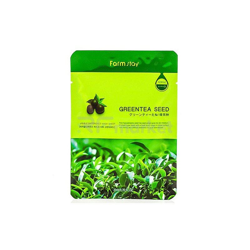 FarmStay Маска тканевая с экстрактом зеленого чая - Visible difference mask sheet green tea se, 23мл