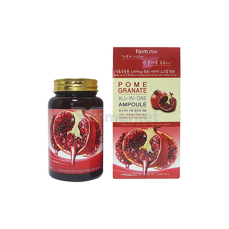 FarmStay Средство многофункциональное с экстрактом граната - Pomegranate all-In one ampoule, 250мл