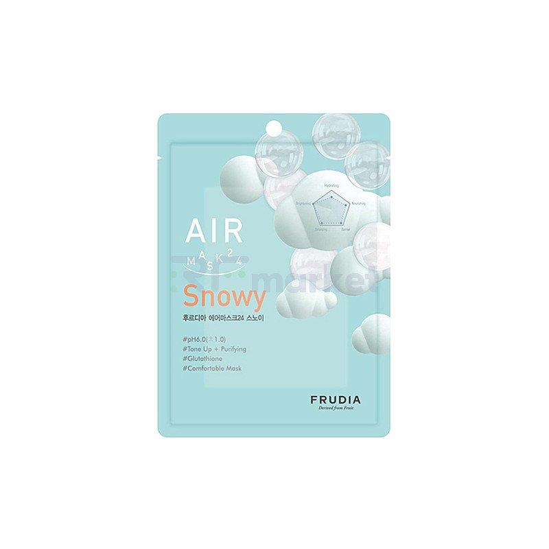 Frudia Маска для лица обновляющая кремовая - Air mask 24 snowy, 25мл