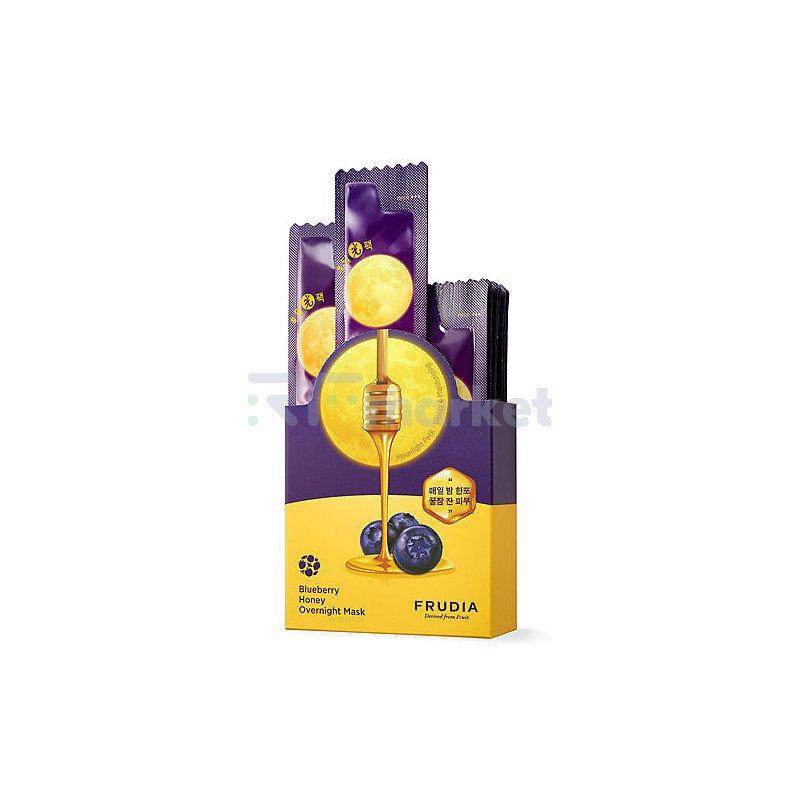 Frudia Маска ночная питательная с черникой и медом -  Blueberry honey overnight mask, 20*5мл