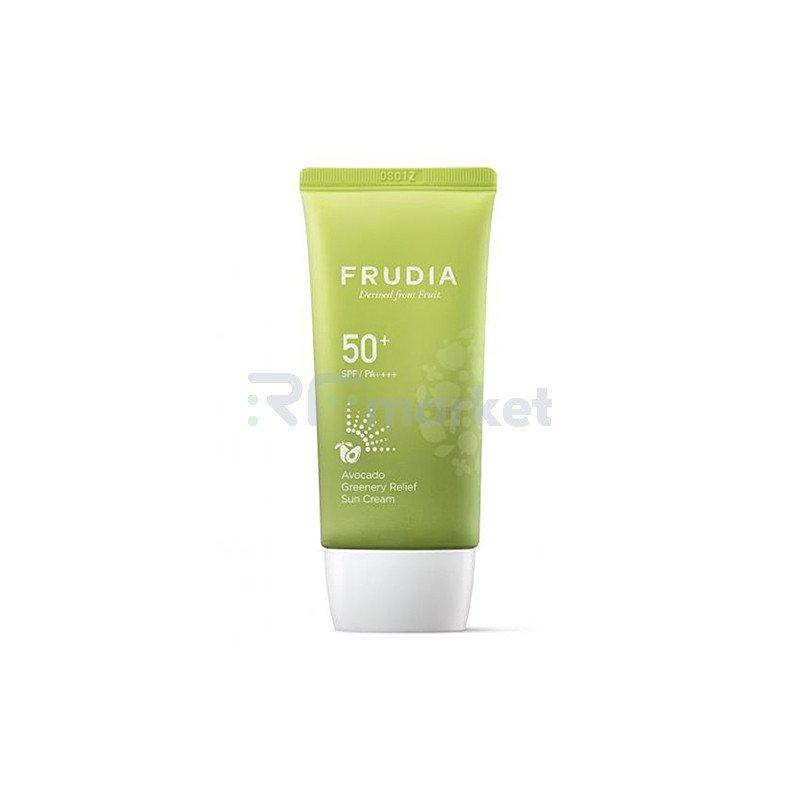 Frudia Крем солнцезащитный с авокадо - Avocado greenery relief sun cream Spf50+Pa++++, 50мл