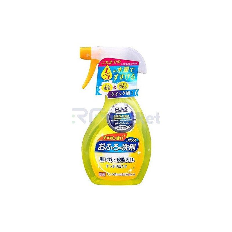 Funs Спрей-пенка чистящая для ванной комнаты с ароматом апельсина и мяты, 380мл