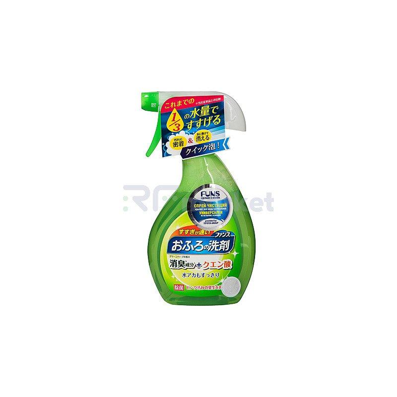 Funs Спрей чистящий для ванной комнаты с ароматом свежей зелени, 380мл