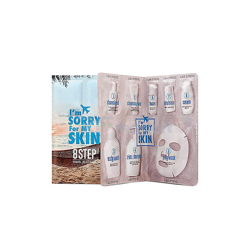 I'm Sorry For My Skin Набор для лица путешествие - 8 Step Travel Jelly Mask, 53мл