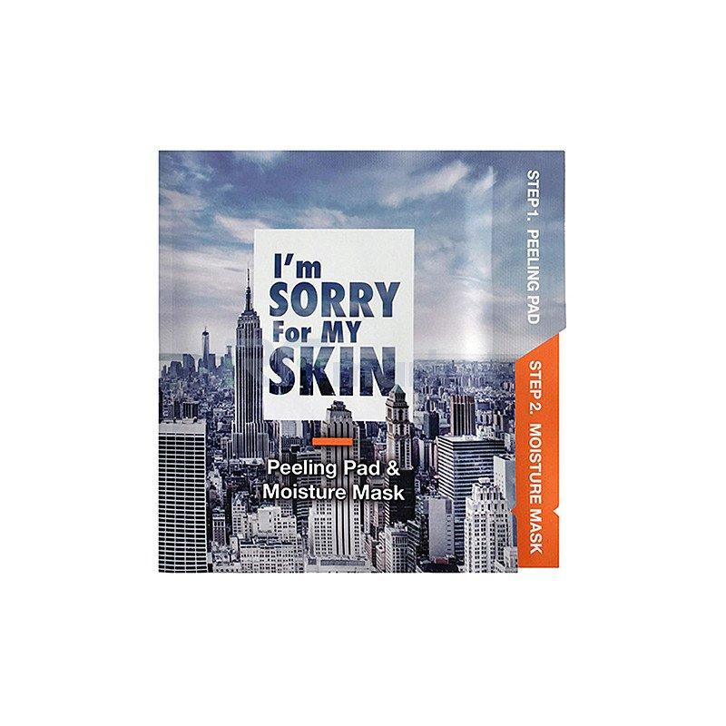 I'm Sorry For My Skin Набор для увлажнения кожи лица - Peeling and moisture mask, 22мл