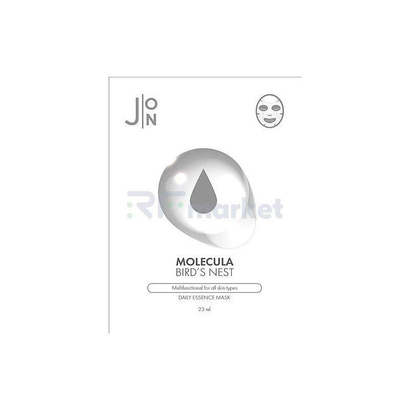 J:on Маска для лица тканевая ласточкино гнездо - Molecula bird's nest daily essence mask, 23мл