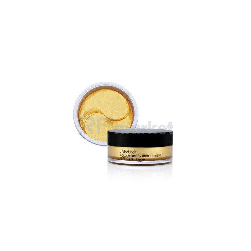 JMsolution Патчи с экстрактом золотого шелкопряда - Golden cocoon home esthetic eye patch, 60шт