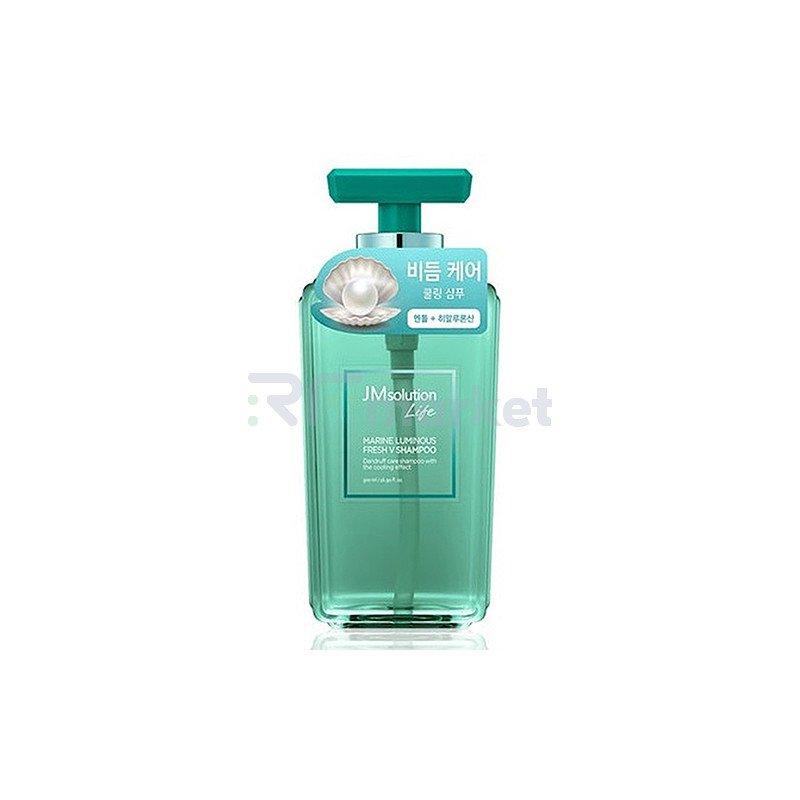 JMsolution Шампунь против перхоти с жемчугом - Solution marine luminous fresh V shampoo, 500мл