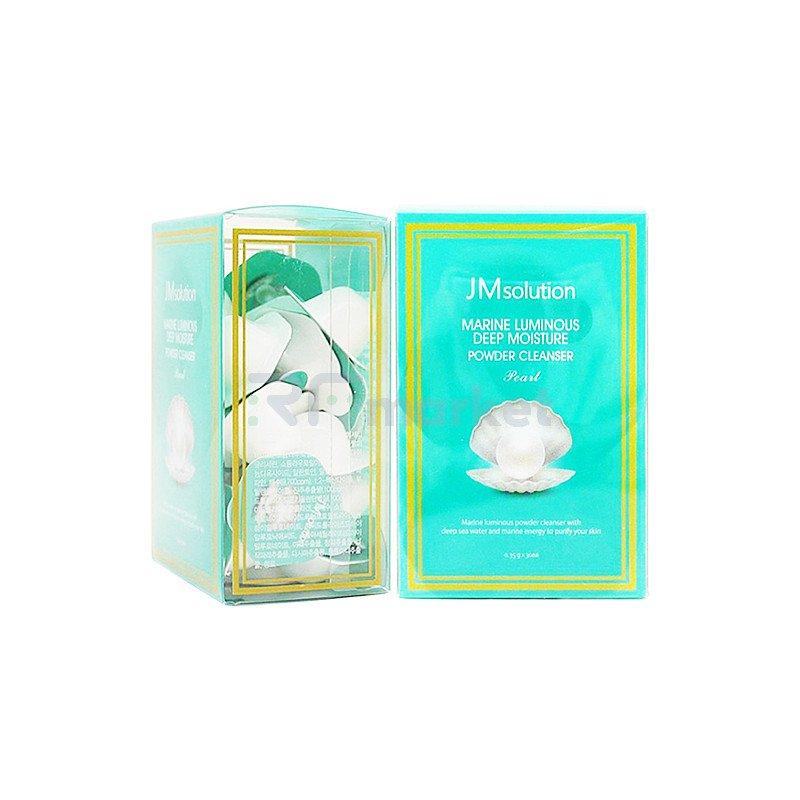 JMsolution Энзимная пудра с жемчугом - Marine luminous deep moisture powder cleanser pearl, 30*0,35г