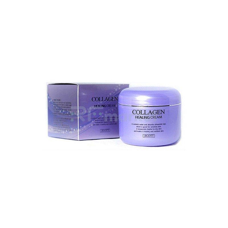 Jigott Крем питательный с коллагеном - Collagen healing cream, 100г