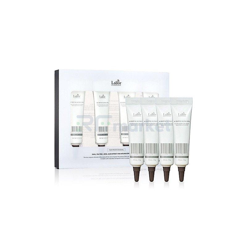 Lador Пилинг для кожи головы - Scalp scaling spa, 4*15г