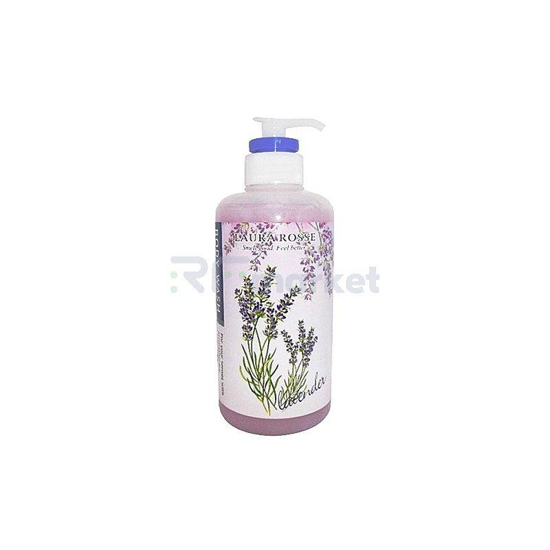 Laura Rosse Жидкое мыло для тела ароматерапия лаванда - Rosse body wash lavander, 500мл