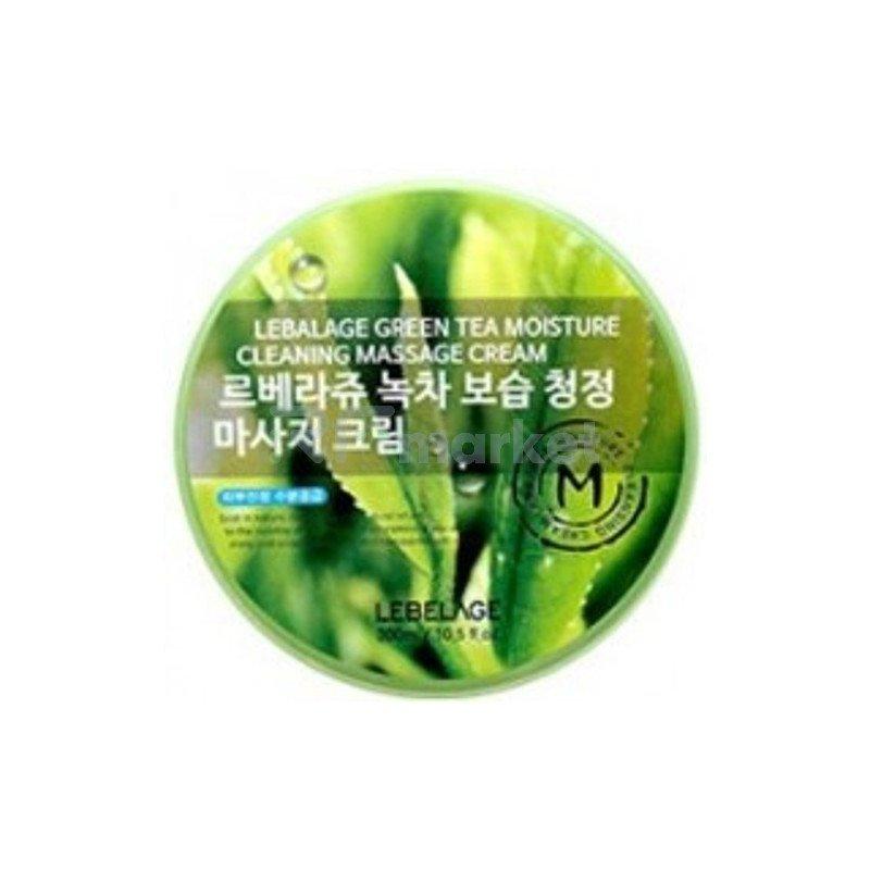 Lebelage Крем для снятия макияжа с зеленого чая - Green tea moisture cream, 300мл
