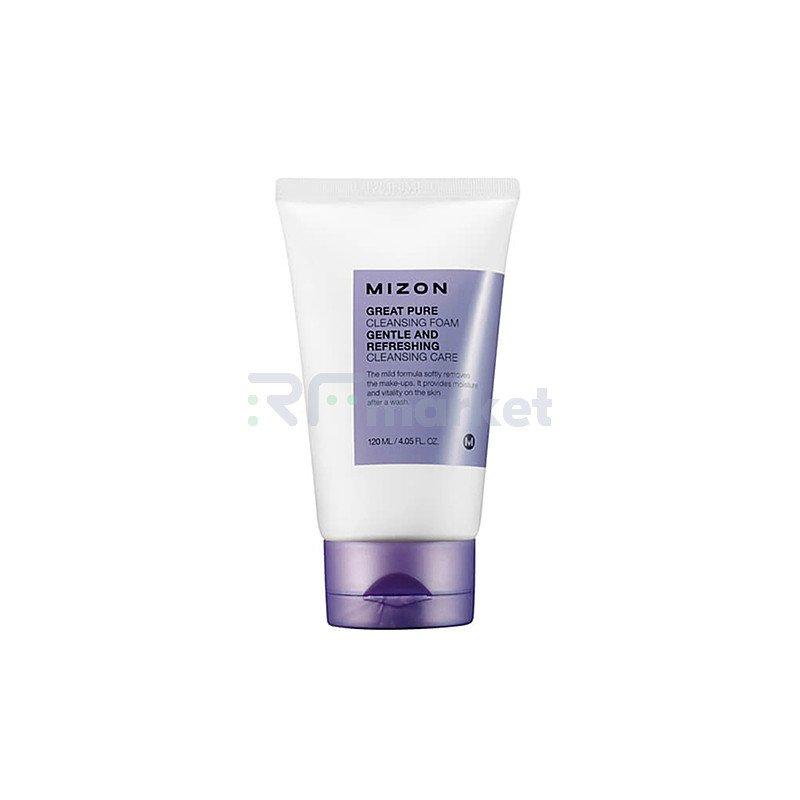 Mizon Пенка для кожи лица скрабирующая - Great pure cleansing foam, 120мл