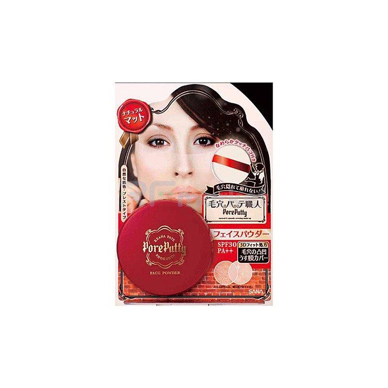 Sana Пудра компактная для лица с 3D эффектом - Pore putty face powder spf35, 13г