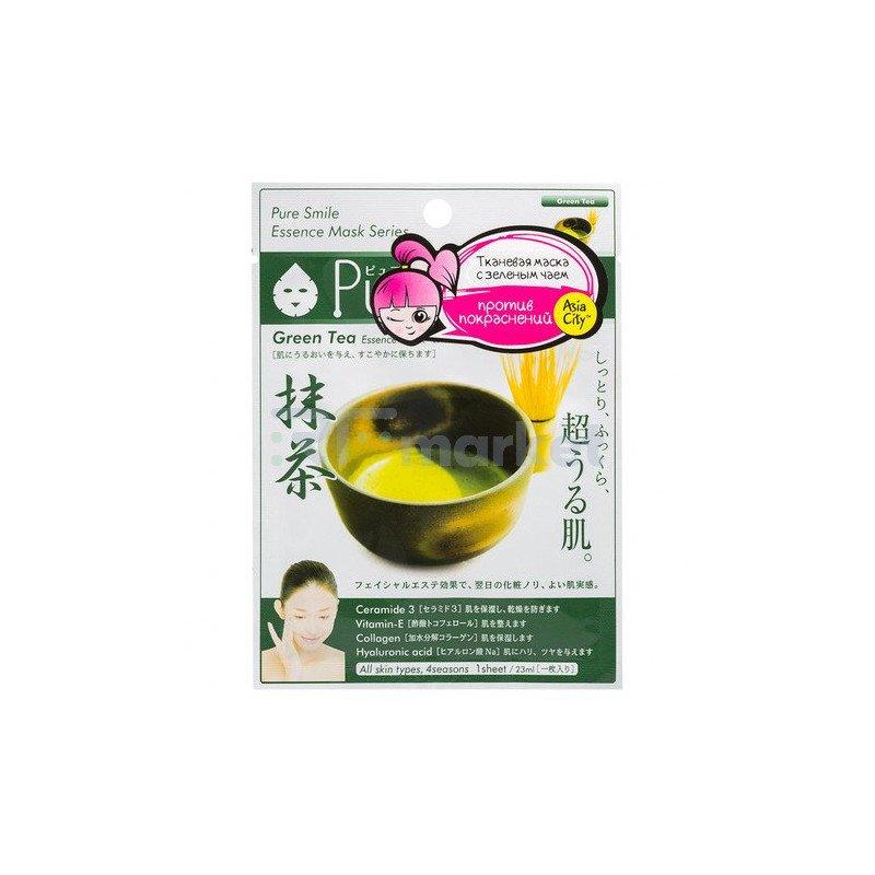 Sunsmile Маска для лица с экстрактом зеленого чая - Green tea face mask, 30г