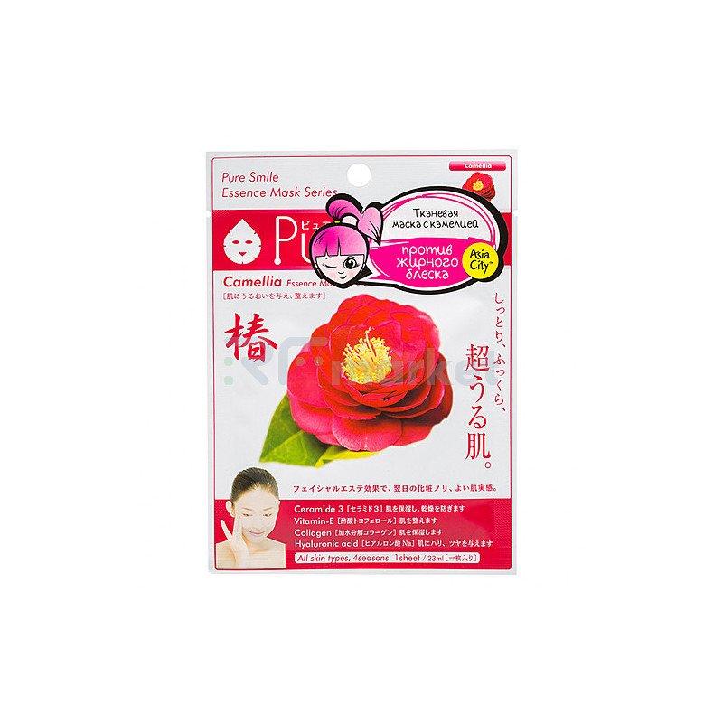 Sunsmile Маска для лица с экстрактом камелии - Face mask with camellia extract, 30г