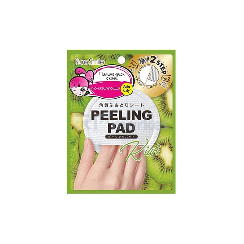 Sunsmile Пилинг-диск для лица с экстрактом киви - Peeling pad, 20г