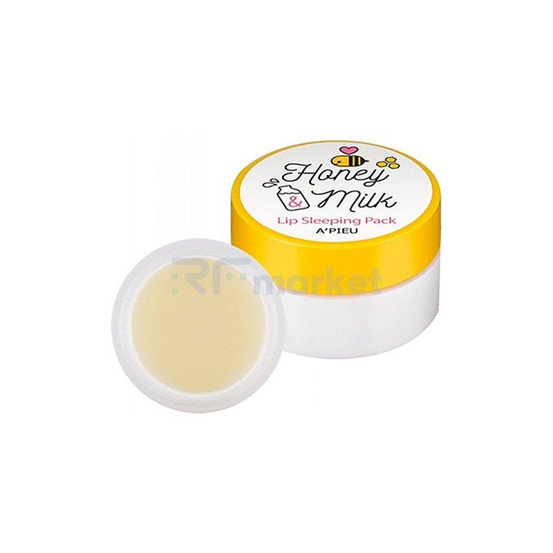 A'Pieu Маска для губ ночная с медом и молочными протеинами - Honey & milk lip sleeping pack, 6мл