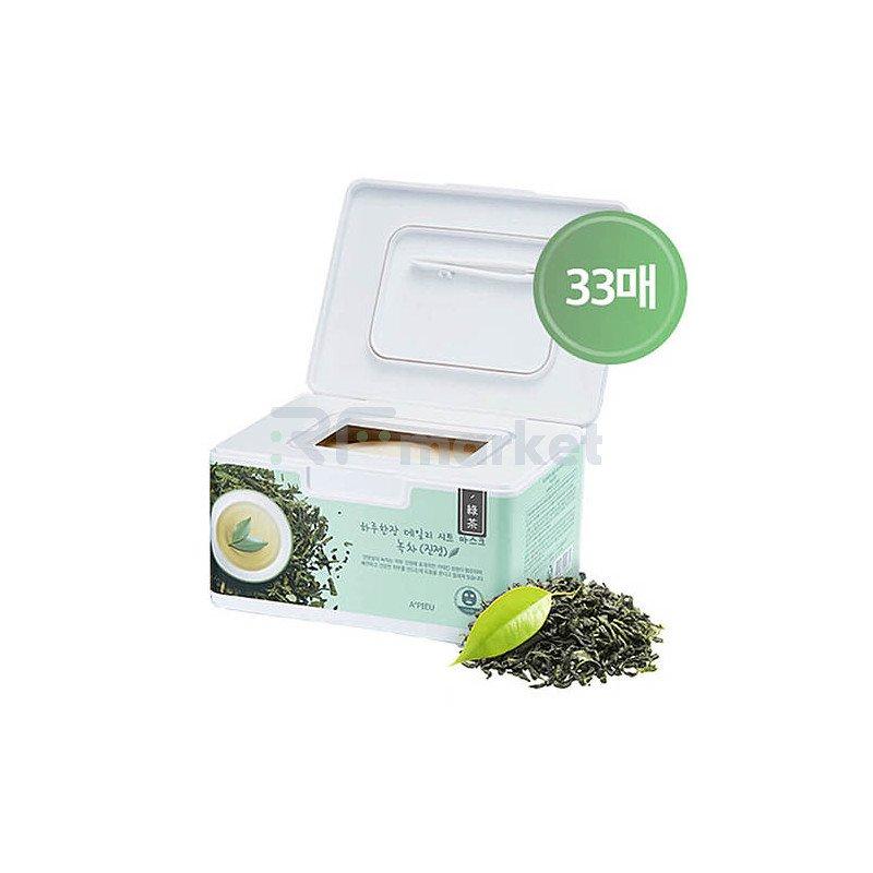 A'Pieu Маски для лица тканевая с зеленым чаем - Daily sheet mask green tea soothing, 32шт