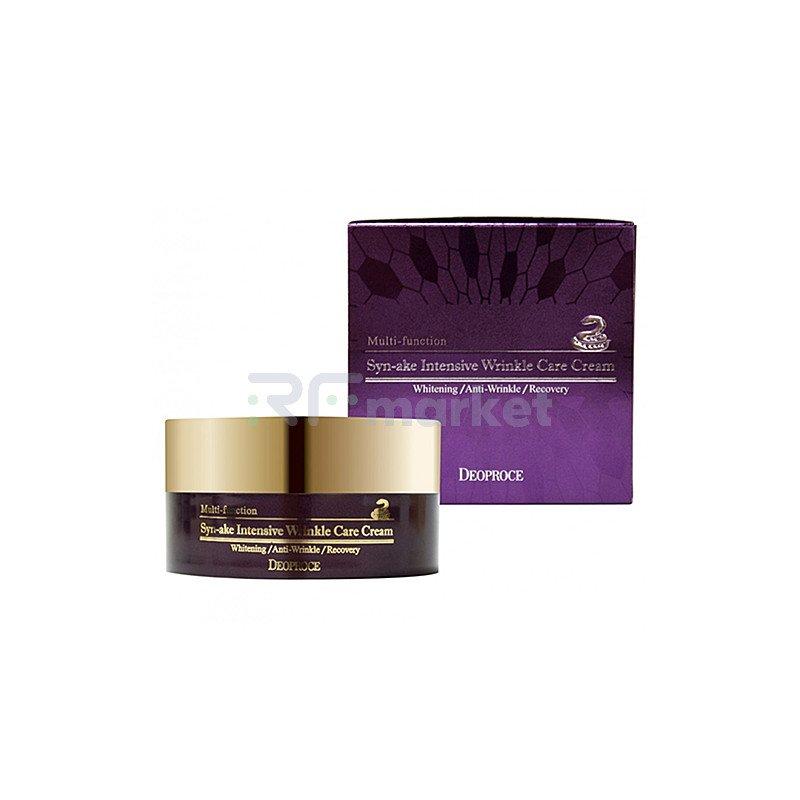 Deoproce Крем для лица со змеиным ядом - Sake intensive wrinkle care cream, 100г
