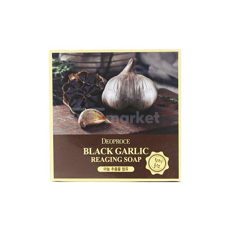 Deoproce Мыло с экстрактом черного чеснока - Soap black garic, 100г