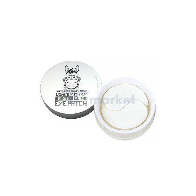 Elizavecca Патчи биюцеллюлозные с ослиным молоком - Donkey piggy milky EGF cling eye patch, 60шт