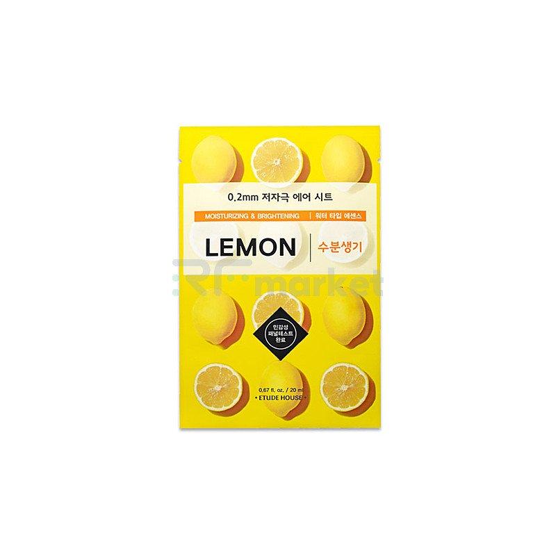 Etude House Маска тканевая с экстрактом лимона - Therapy air mask lemon, 20мл