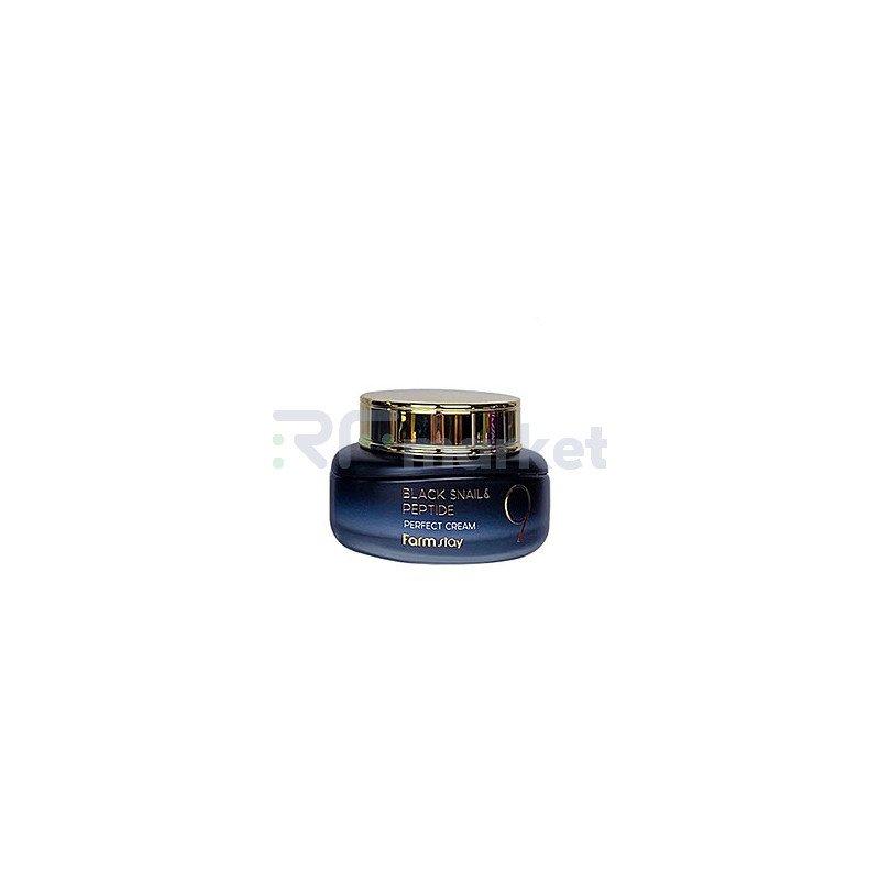 FarmStay Крем для лица с черной улиткой и пептидами - Black snail peptide 9 perfect cream, 55мл