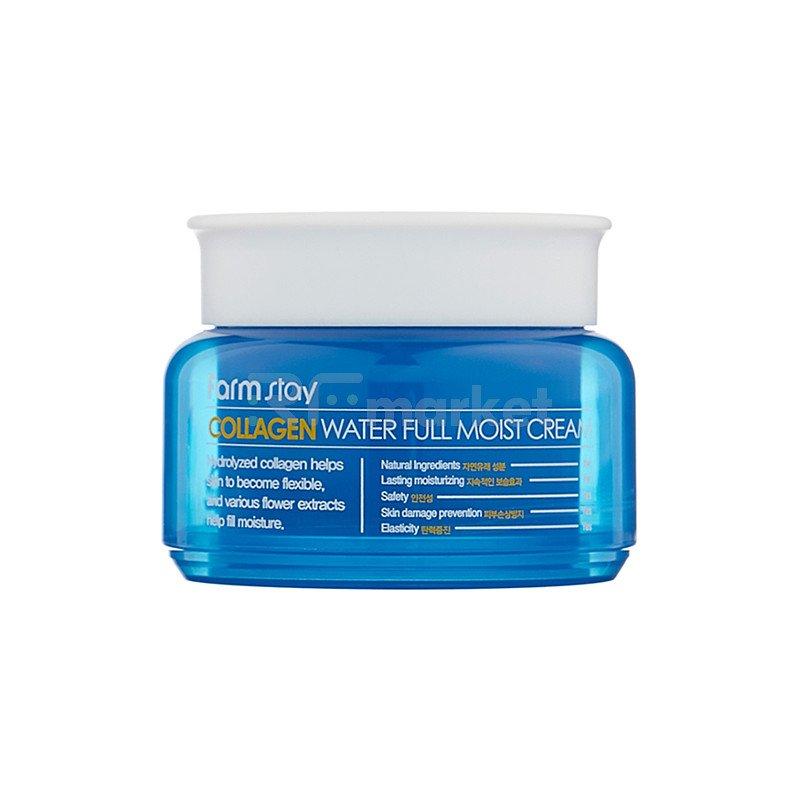 FarmStay Крем для лица увлажняющий с коллагеном - Collagen water full moist cream, 100г