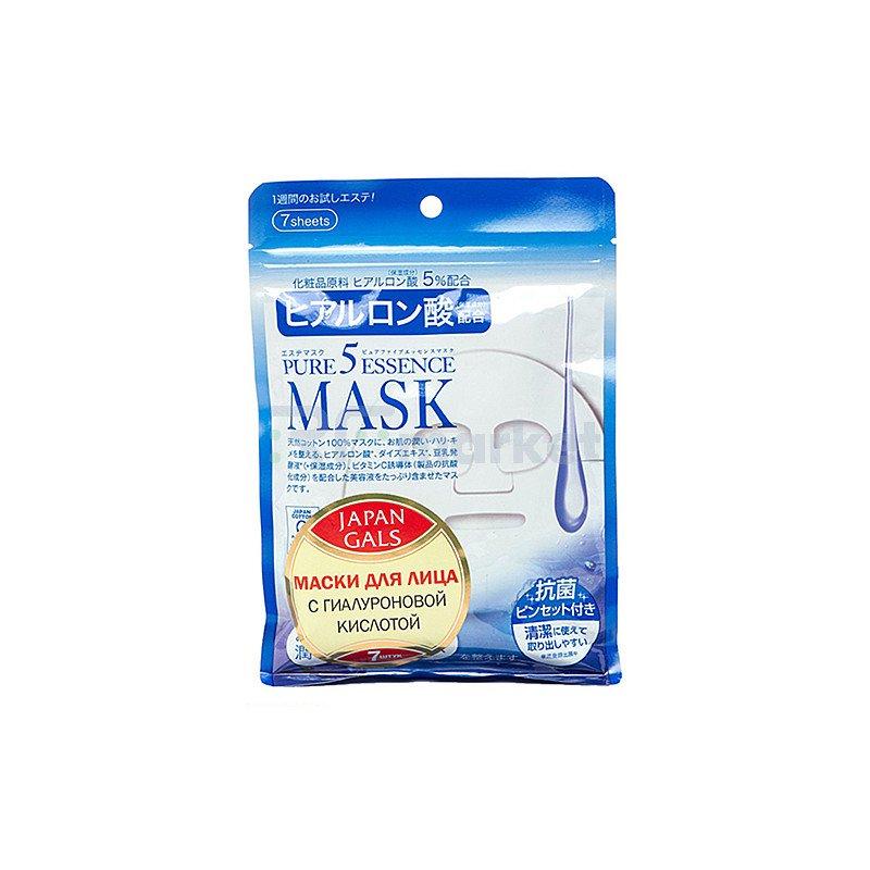 Japan Gals Маска с гиалуроновой кислотой - Hyaluronic acid mask, 1шт