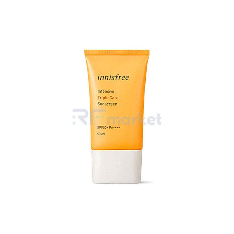 Innisfree Крем солнцезащитный водостойкий - Cream еriple сare SPF50+ PA++++, 20мл