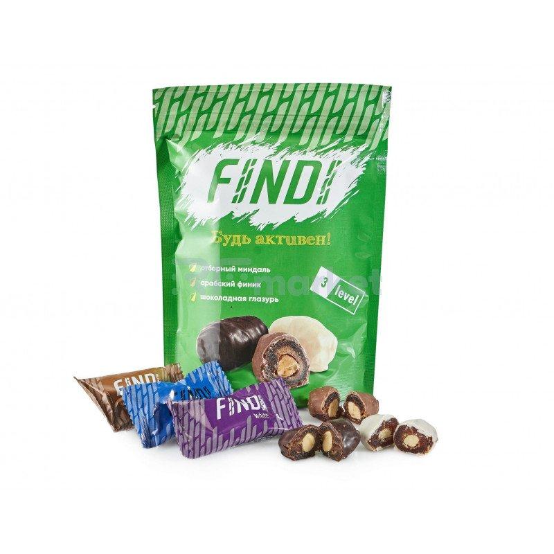 Финики с миндалем в шоколадной глазури Findi ASSORTED, 150гр