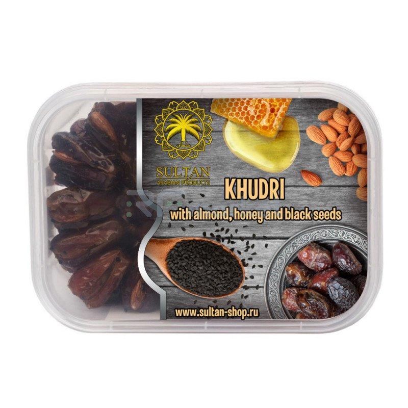 Финики Худри с миндалем в меде с семенами черного тмина