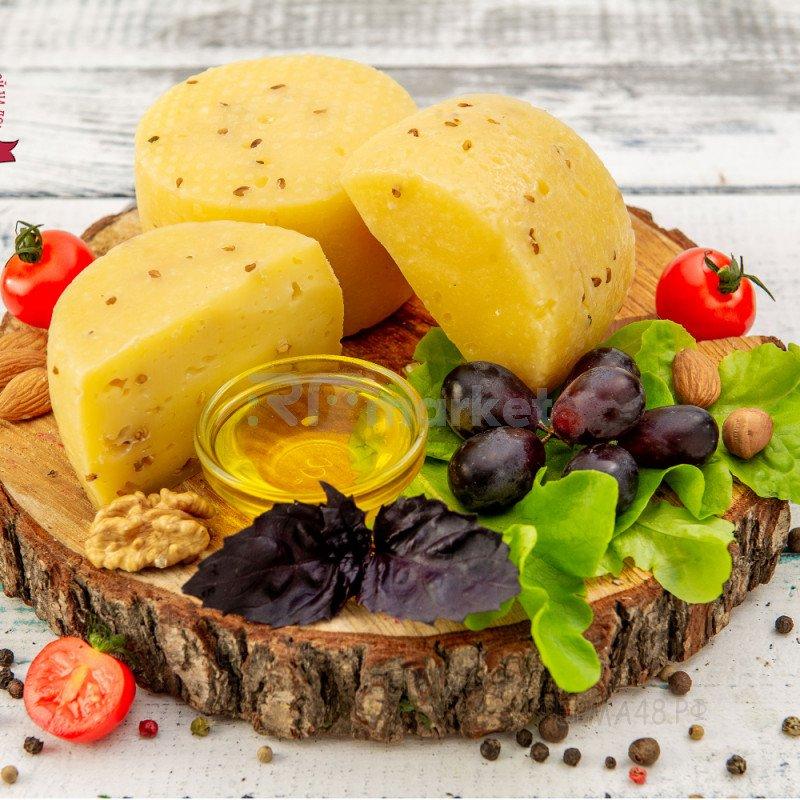 Сыр Качотта из коровьего молока с пажитником, фермерский, 500 гр