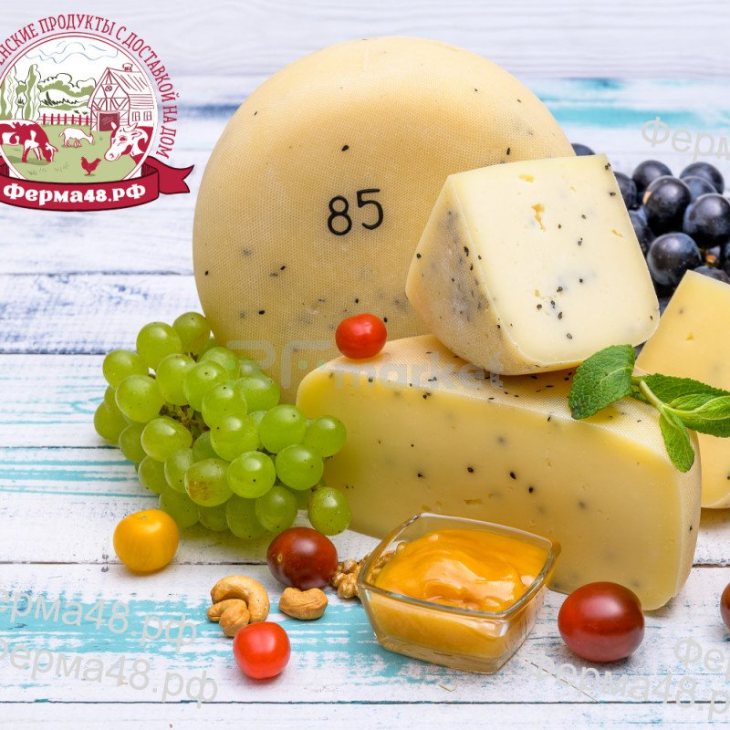 Cыр Лейденский из коровьего молока, фермерский, 500 гр
