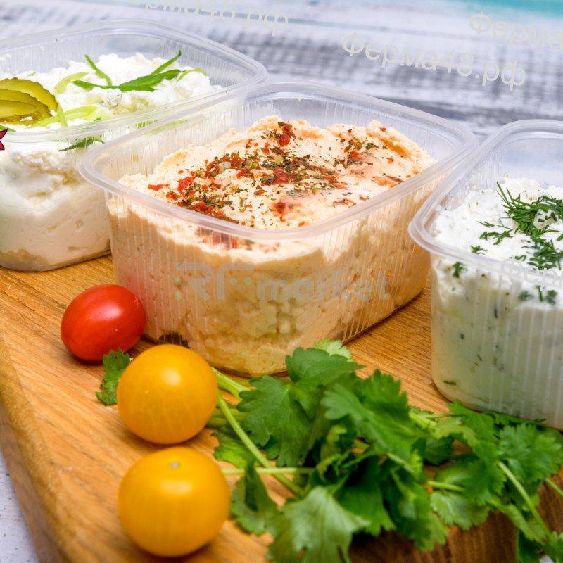 Сыр Чиз Лайт, фермерский, Укроп и чеснок, 200 гр