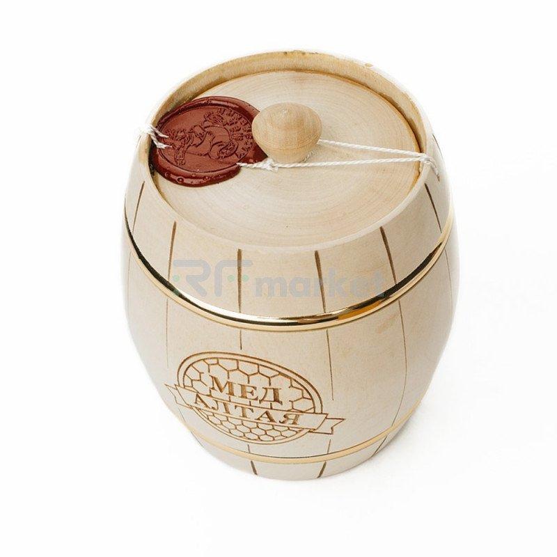 Подарочная упаковка №4, Бочонок с мёдом, 500 гр.